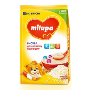 Milupa, 170 г, Каша безмолочная, Рисовая, м/у