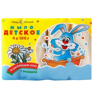 Nevskaya Cosmetics, 4pcs. on 100 g, Soap children's, With a camomile, m / at