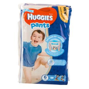 Huggies Pants 6, 36 шт.,15-25 кг, Подгузники-трусики, Mega Boy