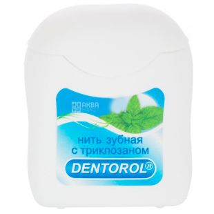 Dentorol, 65 м, Зубная нить, Fresh Mint, С триклозаном