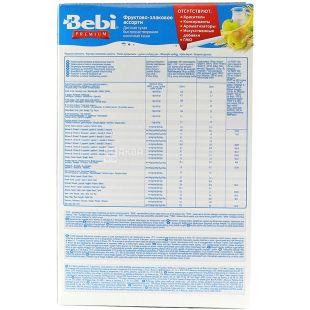 Bebi Premium, 250 г, Каша молочна, Фруктово-злакове асорті, З 6-ти місяців