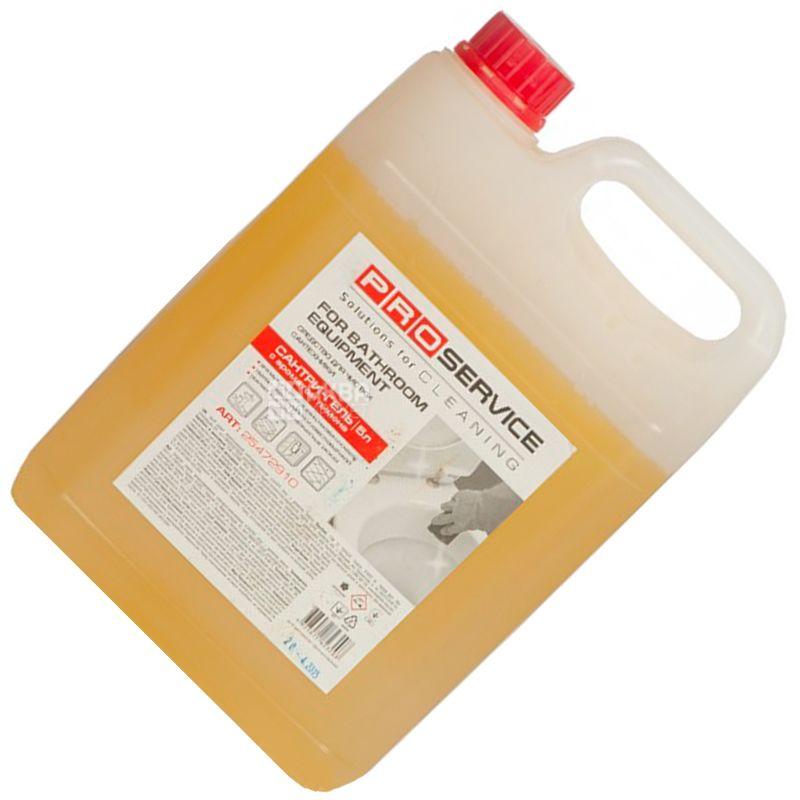 PRO service, Моющее средство для сантехники, Сантри-гель, Лимон, 5 л