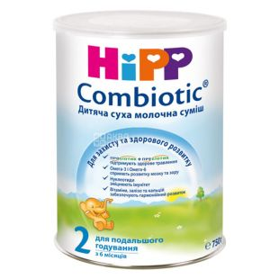 Hipp, 750 г, Детская сухая молочная смесь, Combiotic, 2