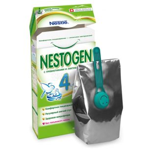 Nestle, 350 г, Сухая смесь, Nestogen 4