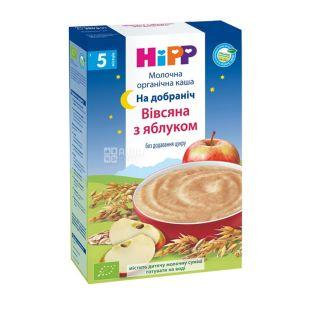 HiPP, 250 g, Organic Milk Porridge, Oatmeal with Apple, Good Night