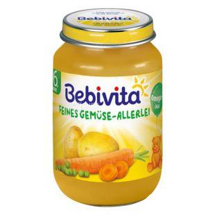 Bebivita, 190 г, Овощне пюре, Асортi