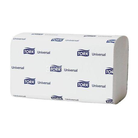 Tork Universal, 200 аркушів, Рушники паперові Торк, 2-шарові, ZZ-складення, білі, 23х23 см
