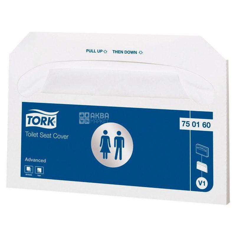 Tork, 250 шт., Накладки для унітазу гігієнічні Торк