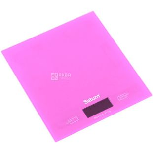 SATURN, Весы кухонные, Pink, ST-KS810