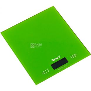 SATURN, Весы кухонные, Green, ST-KS810