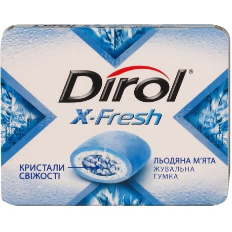 Dirol X-Fresh, Упаковка 16 шт. по 18 г, Жувальна гумка, Крижана м'ята