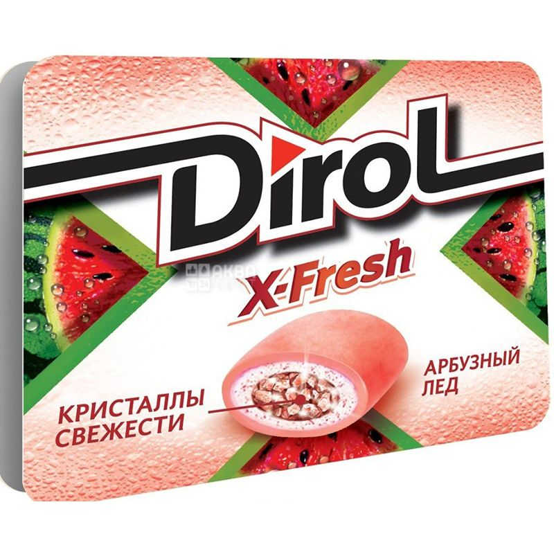 Dirol X-Fresh, Упаковка 16 шт. по 18 г, Жевательная резинка, Арбузная свежесть