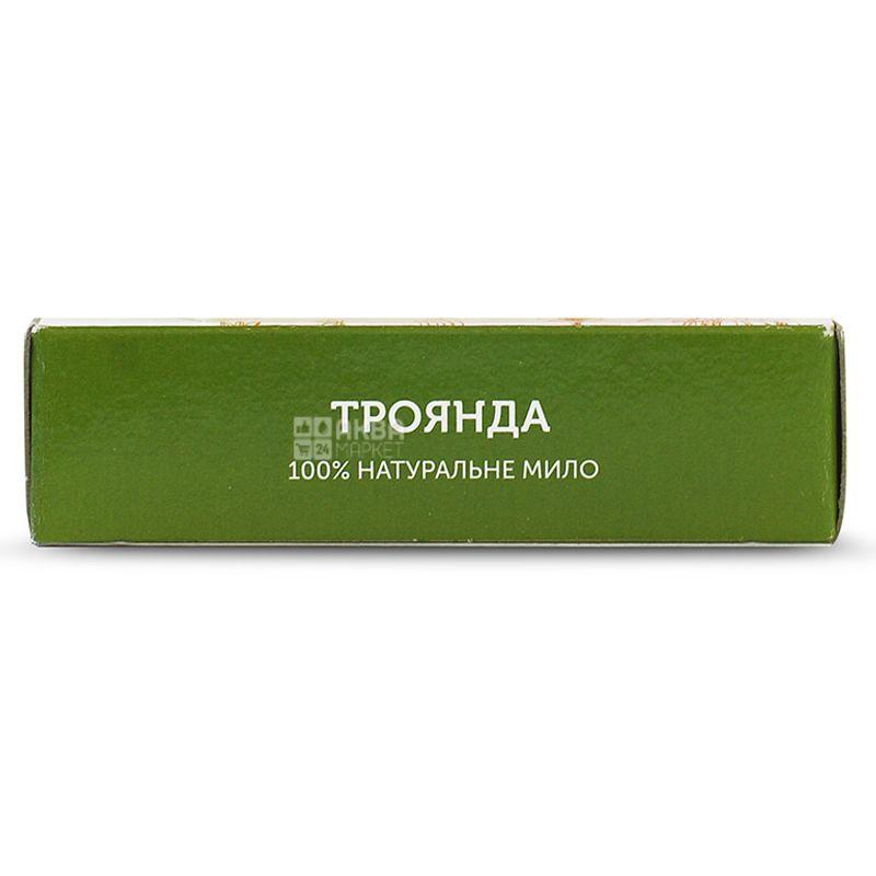 Яка, 75 г, Мыло натуральное, С маслом грецкого ореха, Роза, м/у