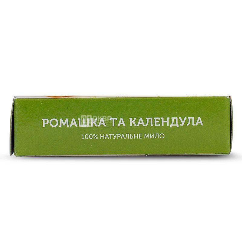 Яка, 75 г, Мыло натуральное,С маслом Ши, Ромашка и календула, м/у