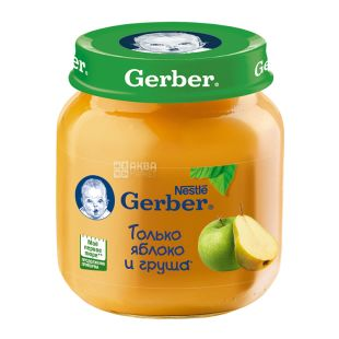 Gerber, 130 g, Fruit puree, Apple, Apricot, Banana, From 6 months