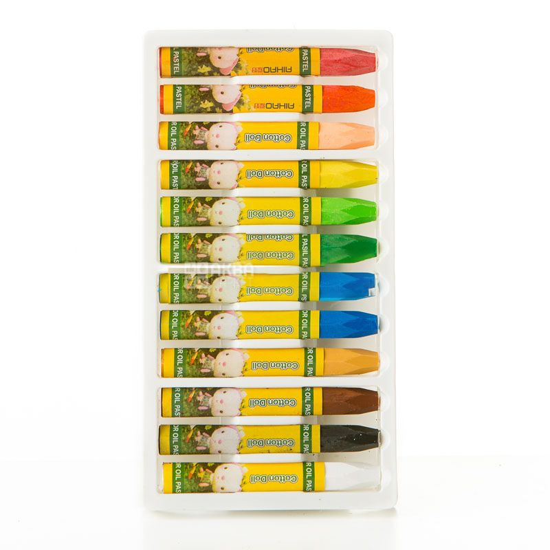AIHAO, 12 шт., Набор мелков, Oil Pastel, Масляные, Разноцветные