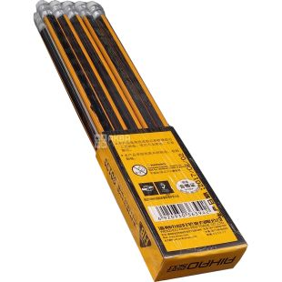 Aihao, 10 pcs., A set of pencils, HB, With a rubber band