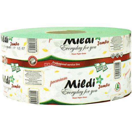 Mildi Jumbo, 1 рул., Туалетная бумага Милди Джамбо, 2-х слойная, 125 м