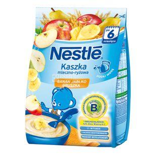 Nestle, 230 г, Молочная каша, Рисовая, С бананом, яблоком и грушей, м/у