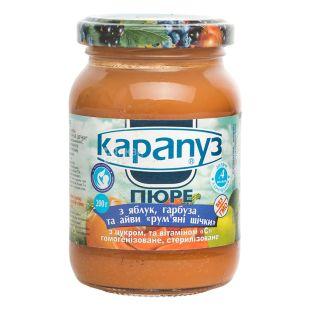 Карапуз, 200 г, Пюре дитяче, З яблук, гарбуза та айви