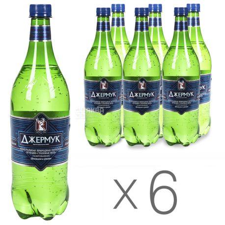 Джермук, 1 л, упаковка 6 шт., Вода минеральная газированная, ПЭТ