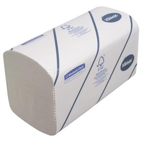 Kleenex, Professional Ultra, 186 аркушів, Паперові рушники Клінекс, 2-шарові, ZZ-складення, сірі, 31 x 21 см