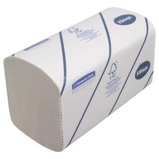 Kleenex, Professional Ultra, 186 листов, Бумажные полотенца Клинекс, 2-х слойные, ZZ-сложения, серые, 31 x 21 см