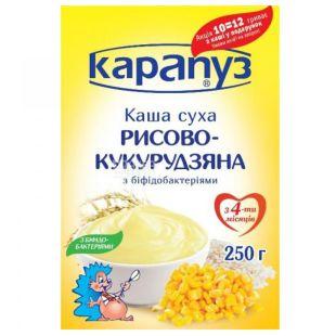 Карапуз, 250 г, Рисово-кукурузная каша, С бифидобактериями