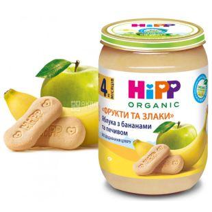 HIPP, 190 г, З 4 місяців, Молочна каша, З печивом, На добраніч