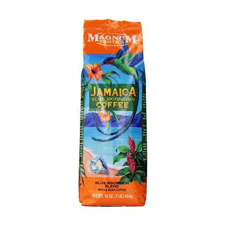 Magnum Exotics, 454 г, Кава в зернах, Jamaica blue mountain blend