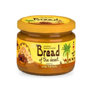 Master Bob, 300 г, Арахісова паста, Хліб пустелі, Преміальна, З фініками, Скло