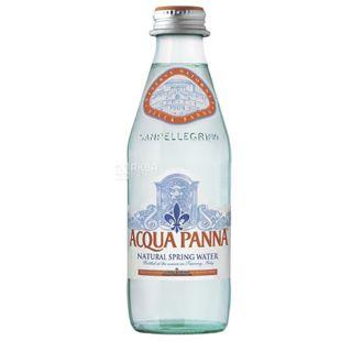 Acqua Panna, 0,25 л, Мінеральна вода, Негазована, скло