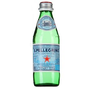 San Pellegrino, Вода минеральная газированная, 0,25 л, стекло, Сан Пелегрино