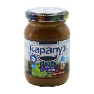 Карапуз, 200 г, Пюре детское, Из яблок и вишен