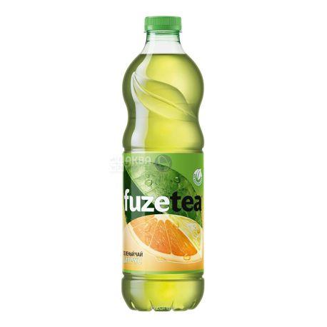Fuzetea, 1,5 л, Зеленый чай, Со вкусом лимона и лайма, ПЭТ