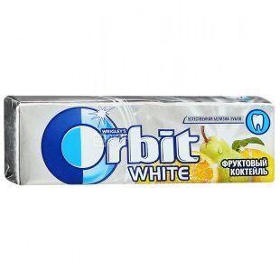 Orbit, 14 g, Chewing gum, Fruit cocktail