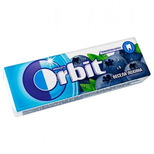 Orbit, 14 g, Chewing gum, Merry blueberries