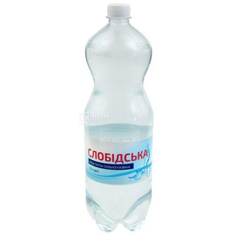 Слобiдська, 1,5 л, Газована вода, ПЕТ, ПЕТ