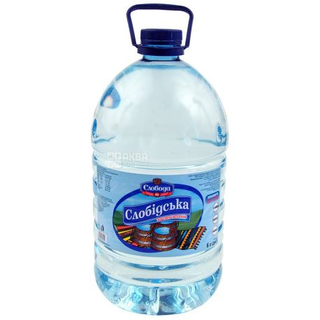 Слобiдська, Вода минеральная негазированная, 6 л, ПЭТ
