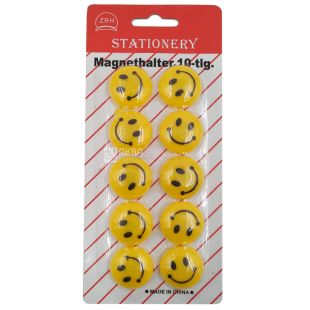 AIHAO, 10 шт., 30 мм, Набір магнітів, Smile, Блістер