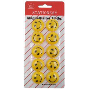 AIHAO, 10 шт., 30 мм, Набор магнитов, Smile, Блистер