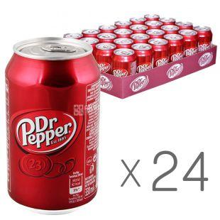 Dr Pepper, Blend of 23 flavors, Упаковка 24 шт. по 0,33 л, Доктор Пеппер, 23 вкуса, Вода сладкая, ж/б