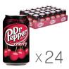 Dr Pepper, Cherry, Упаковка 24 шт. по 0,33 л, Доктор Пеппер, Вишня, Вода сладкая, ж/б
