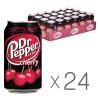 Dr.Pepper, Packing 24 pcs. on 0.33 l, Sweet water, Cherry, w / w