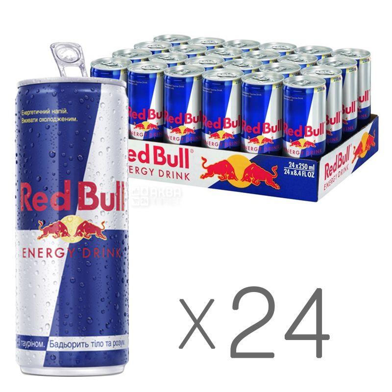 Red Bull, упаковка 24 шт. по 0,25 л, Напій енергетичний Ред Булл