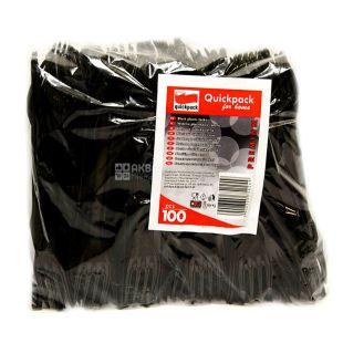 Quickpack, Вилка одноразовая, чёрная, 100 шт.
