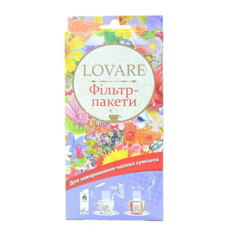 Lovare, 50 шт., Фильтр-пакеты для чая