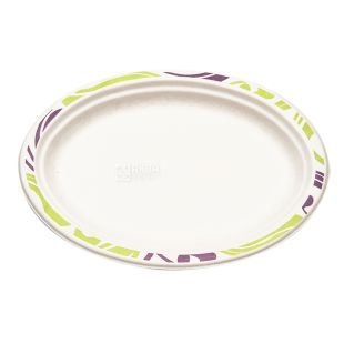 Chinet, 50 pcs., 260 x 190 mm, Paper Plate, Oval, Flavor, M / y