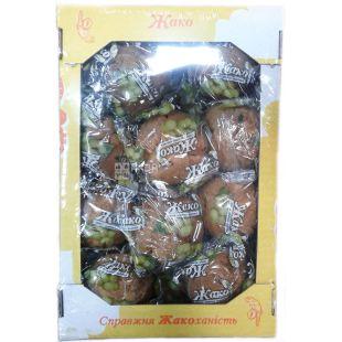 Жако, 1 кг, Кекс, Шоколадная начинка, Картонная коробка