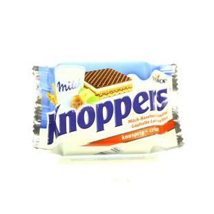 Knoppers, 25 г, Вафли, В молочном шоколаде, С орехом